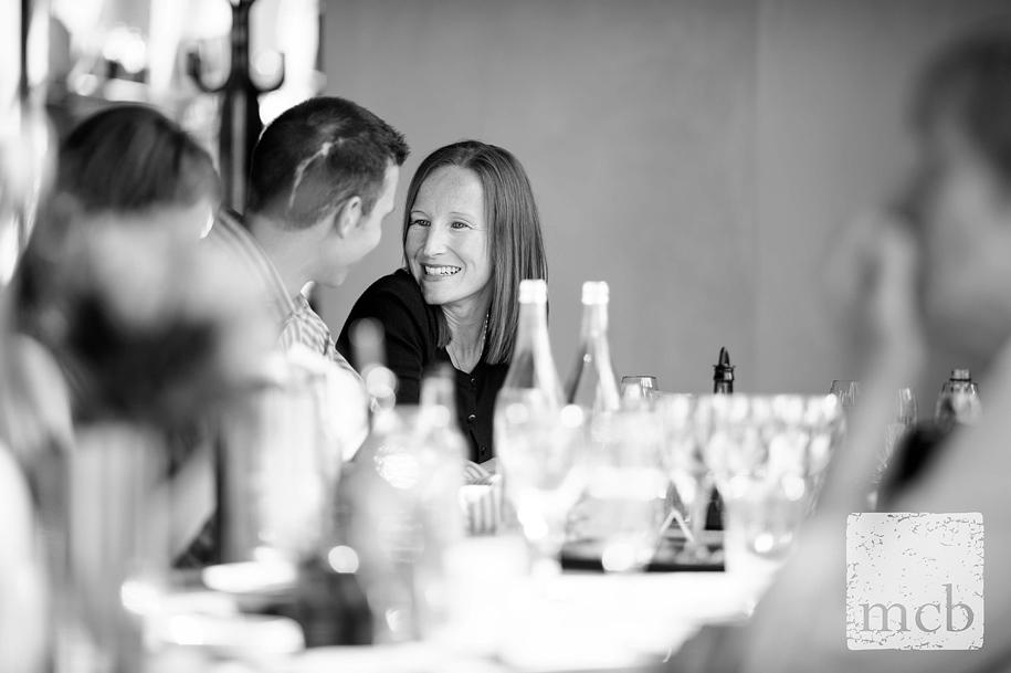 Look of love between wedding guests