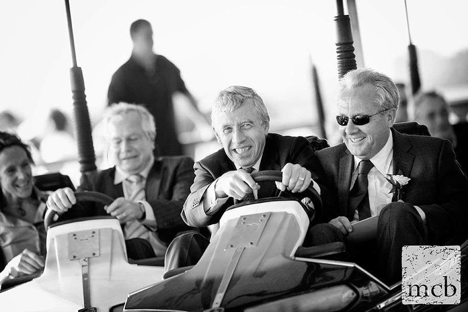 UK politician Jack Straw enjoying the dodgems at a wedding reception