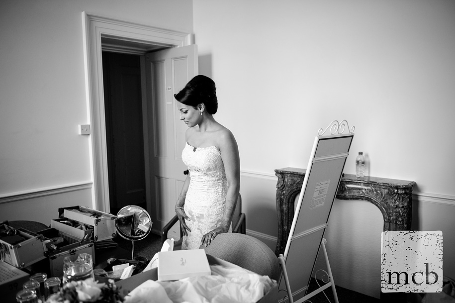 Indian bride gets ready at Wrest Park