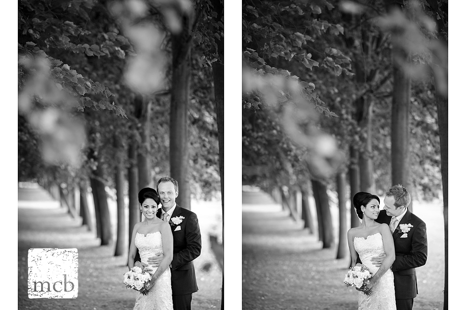 Bride and groom portraits at Wrest Park