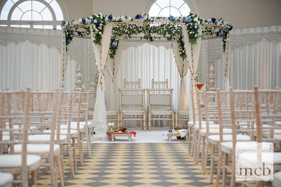 Wrest park orangery ready for the hindu wedding ceremony