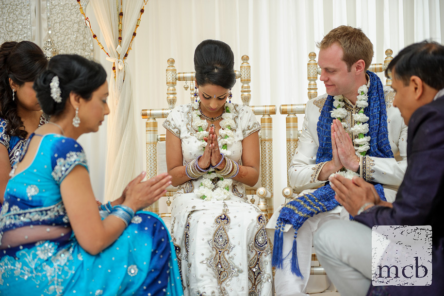 Indian bride in prayer