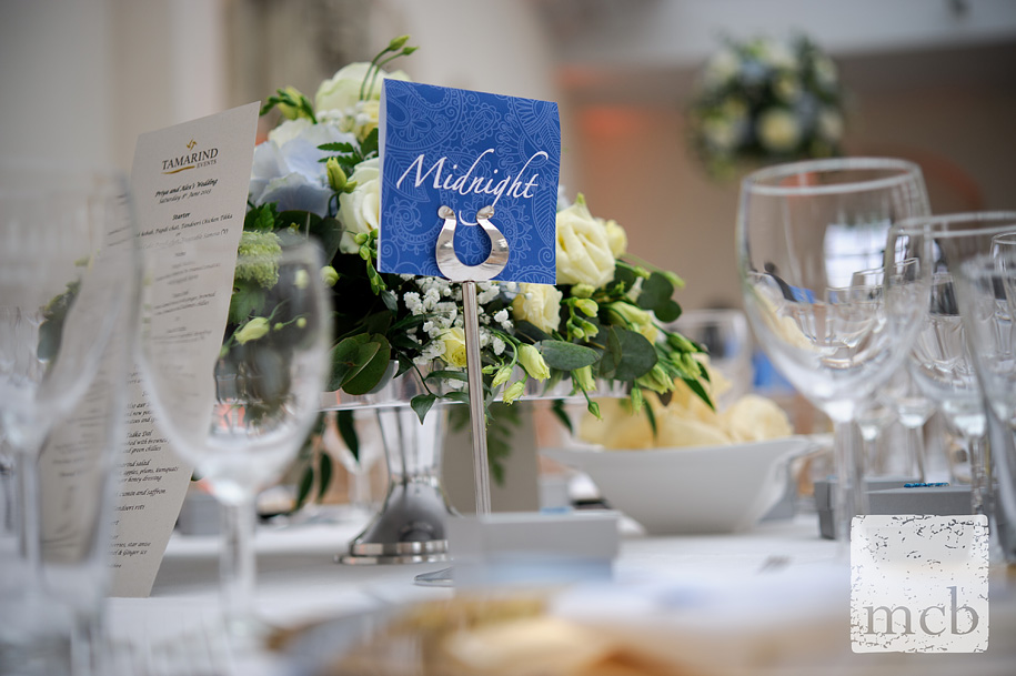 Table detail at wrest park wedding