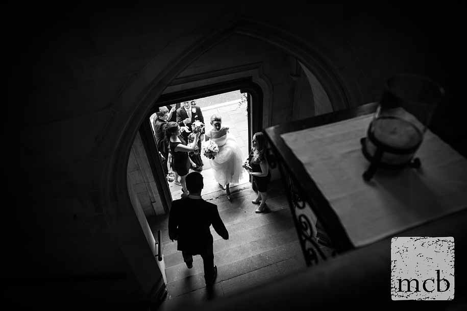 Bride and party enter the church