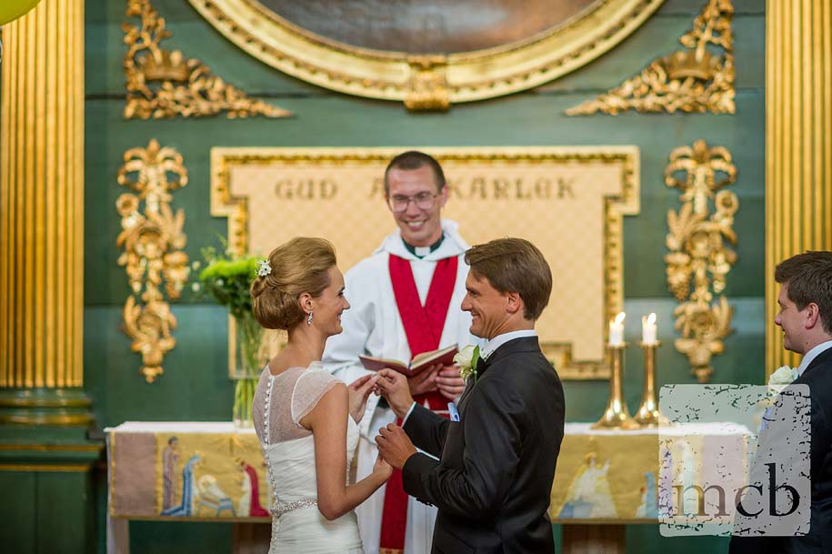 Wedding ceremony in the swedish church