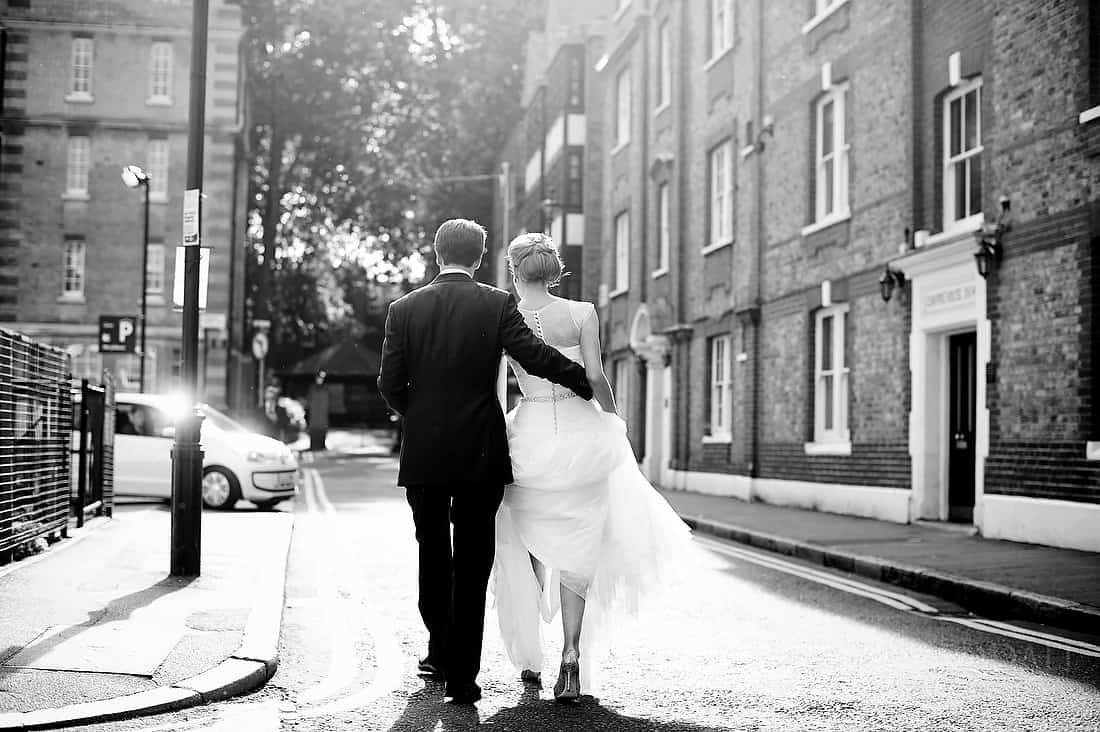 London bride and groom