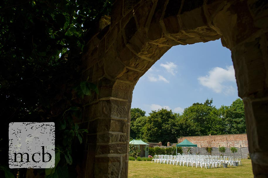 Outdoor wedding in the walled garden at Wadhurst Castle