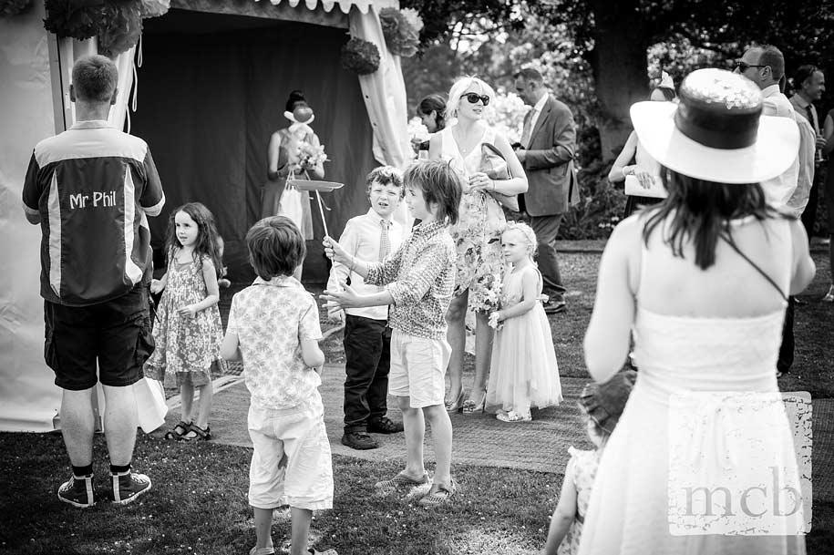 Mr Phil circus skills at a wedding