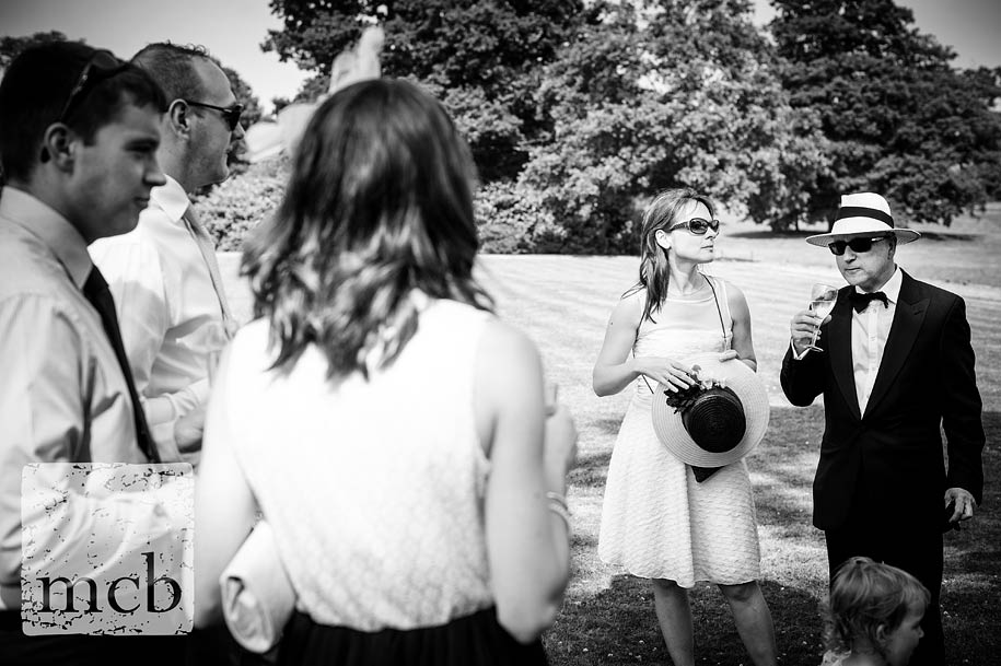 wedding guests at a summer wedding at wadhurst castle