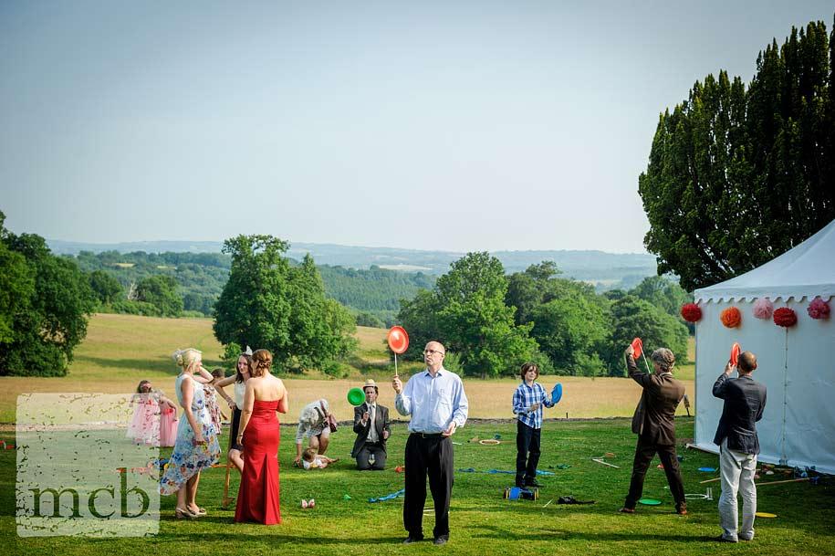 circus skills at wadhurst castle wedding