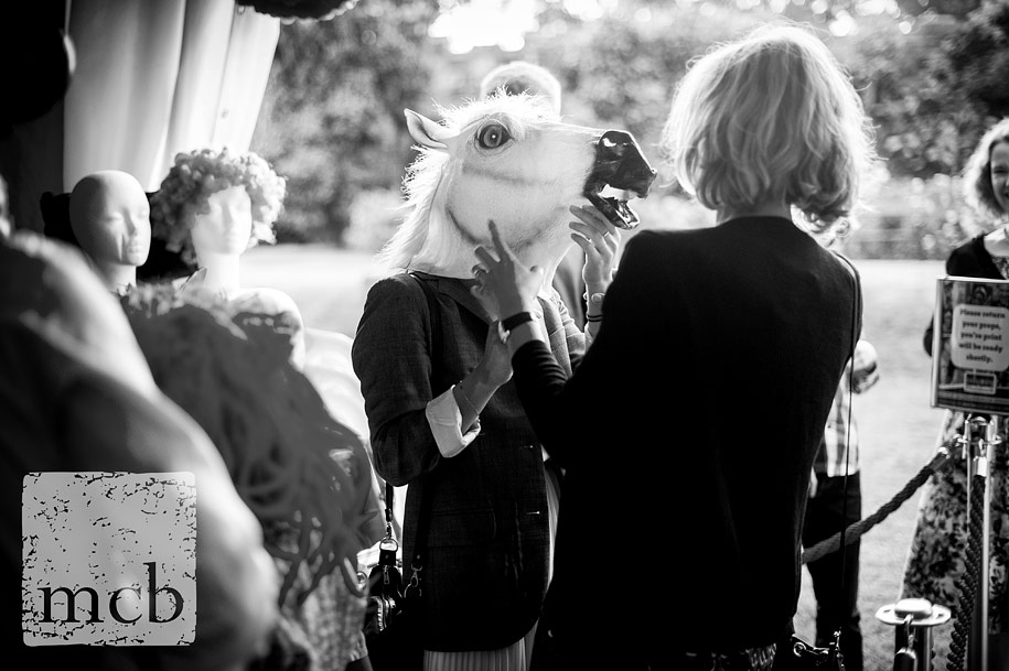 wedding guest with a horses's head
