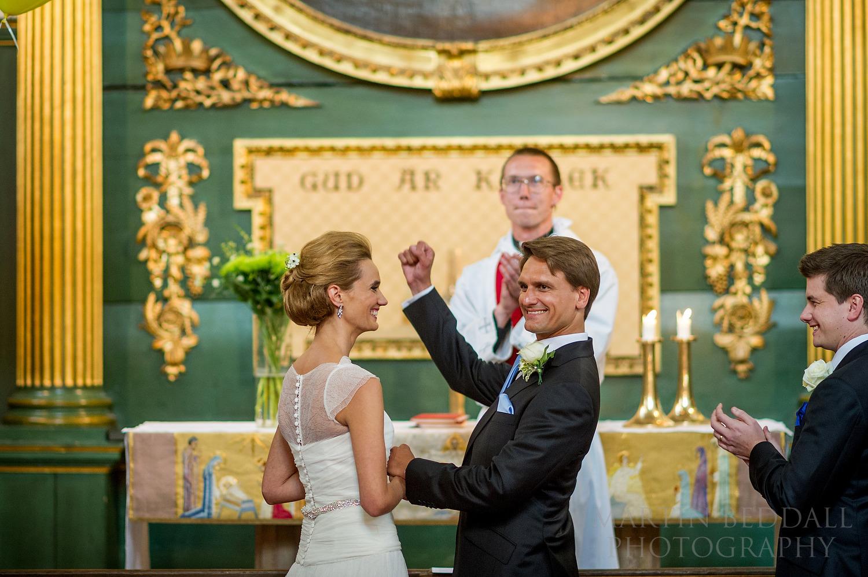 Swedish church wedding ceremony