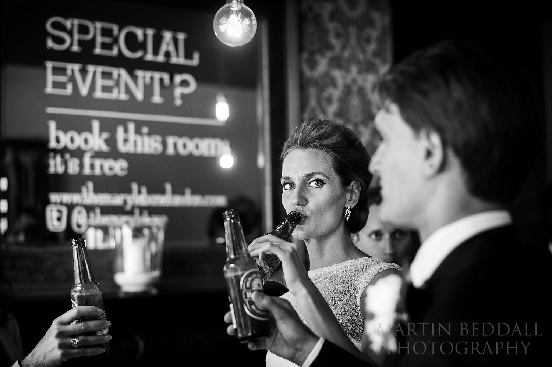 Drinks reception in London pub