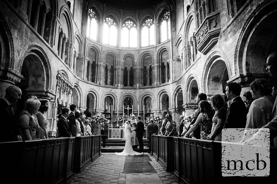 Priory church of St Bartholomew the Great wedding ceremony