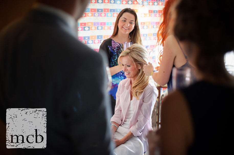 Bride gets ready at Lavender Cottage in Bray