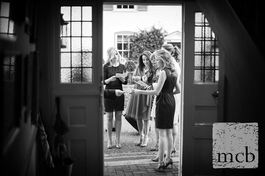 Bridesmaids arrive for the Waterside Inn wedding