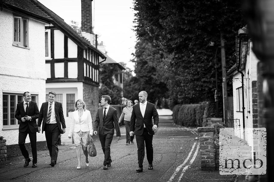 Wedding guests arriving at the Waterside Inn