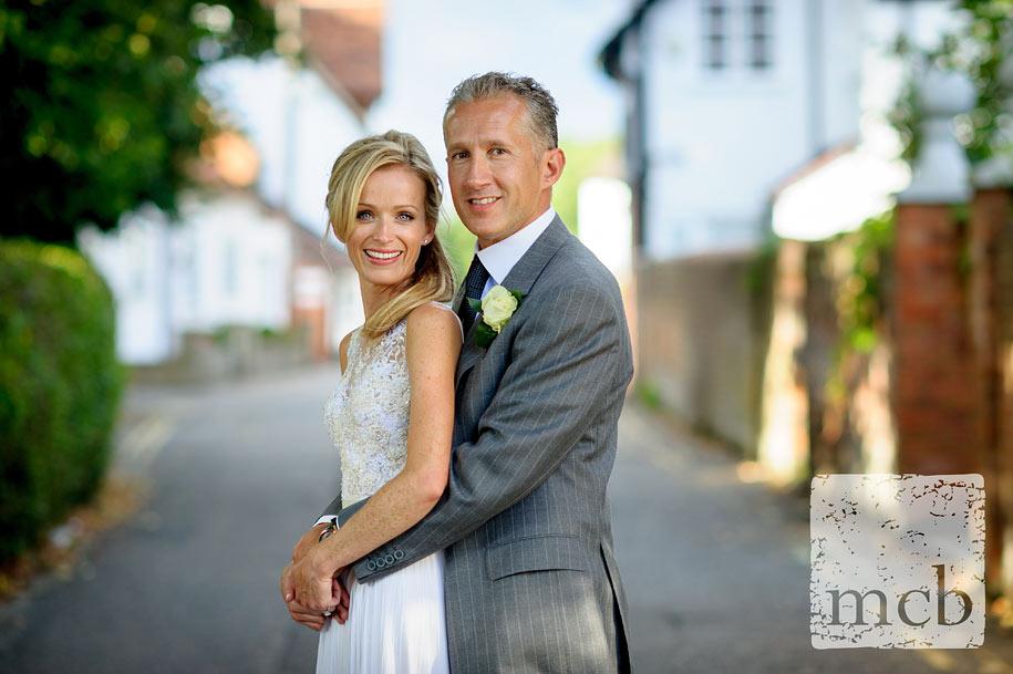 Bride and groom portrait at the Waterside Inn wedding