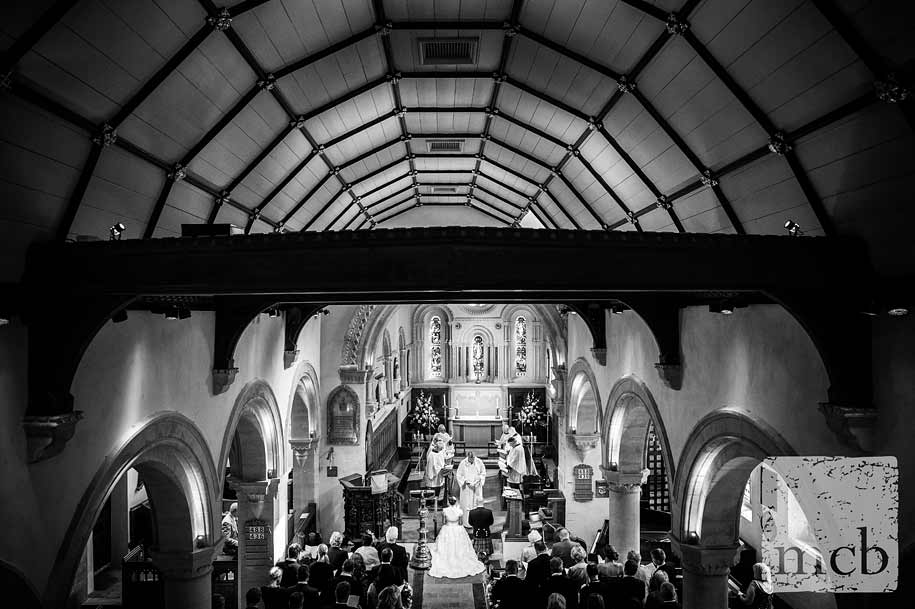 Wedding ceremony in Mickleham church