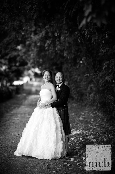 Bride and groom portrait at Mickleham