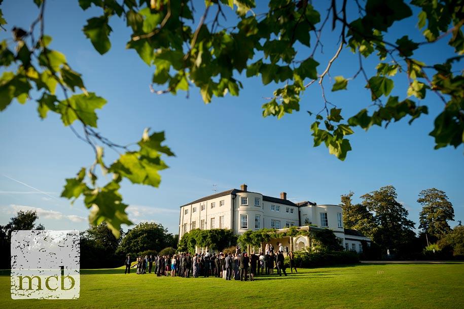 Outdoor wedding speeches at Newick park