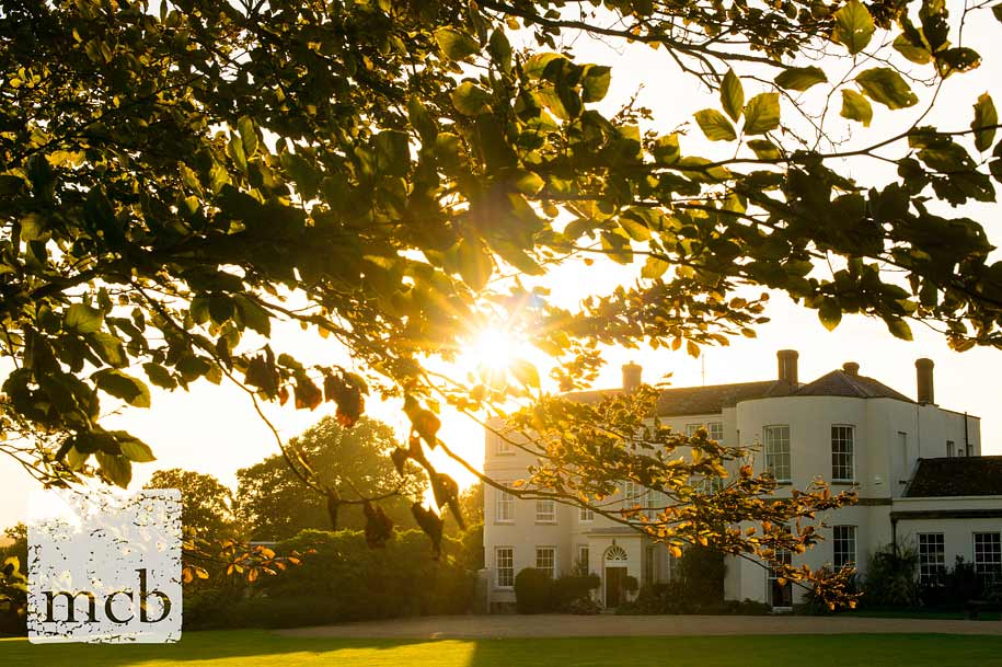 Newick Park hotel bathed in early evening sunshine