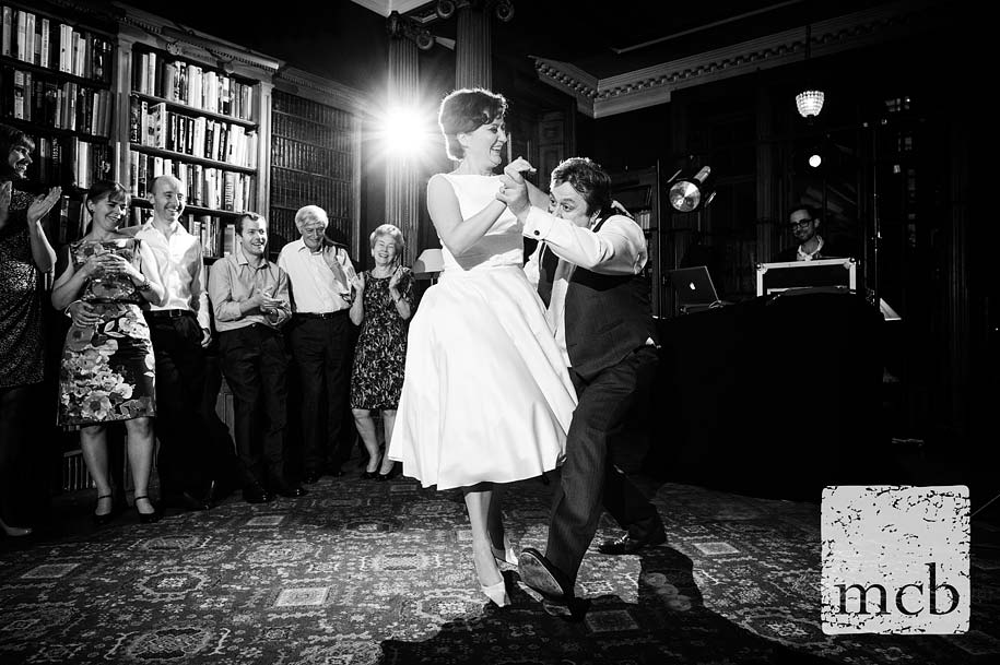 Bride and groom dance to Bring me sunshine
