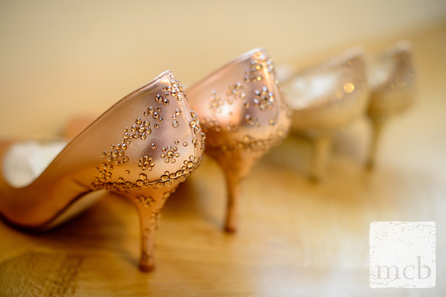 Wedding shoes lined