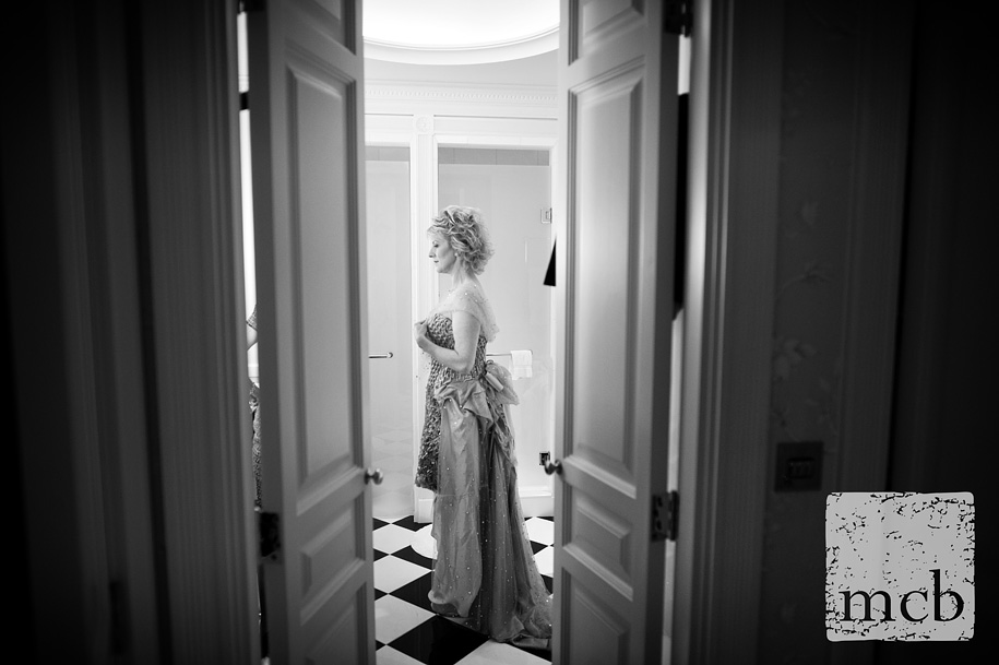 Bride getting ready at the Savoy hotel
