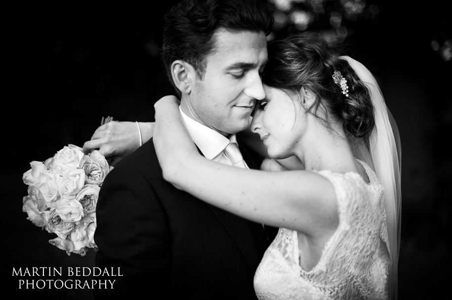 bride and groom portrait at Blake Hall