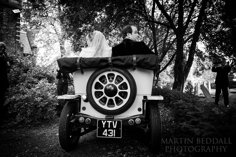 Dr Who wedding car