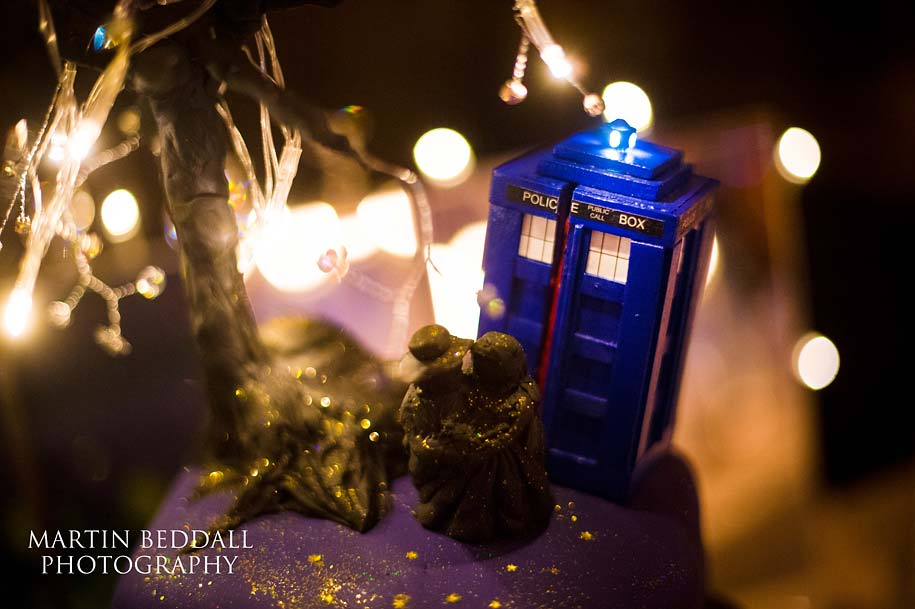 Tardis wedding cake decoration