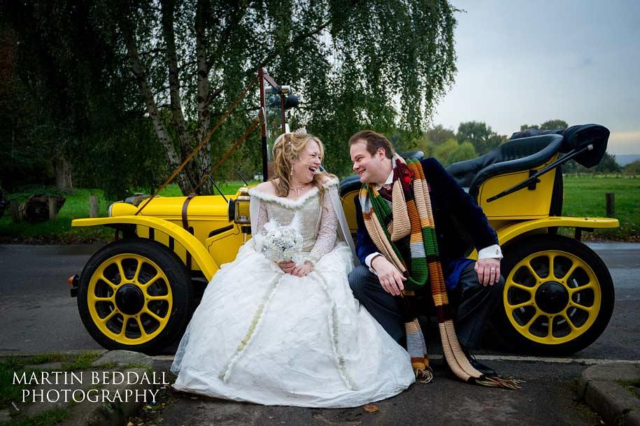 Bride an dgroom recreate incoinc Doctor Who photograph