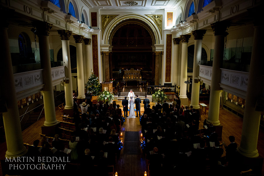 candlelit wedding ceremony in Notting Hill