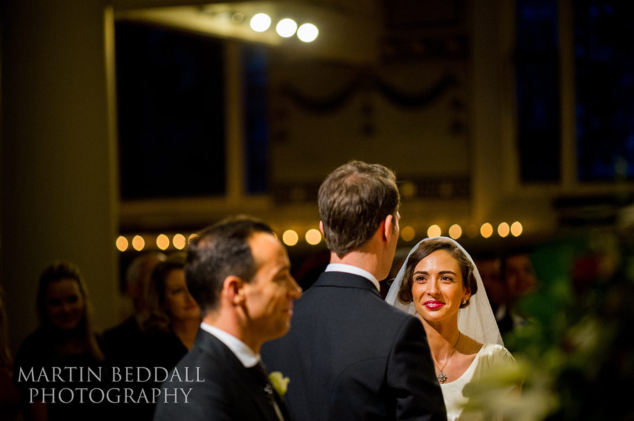 London winter wedding by candlelight