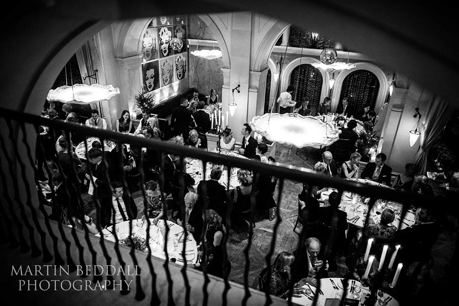 Wedding reception at The Belvedere restaurant in Holland park