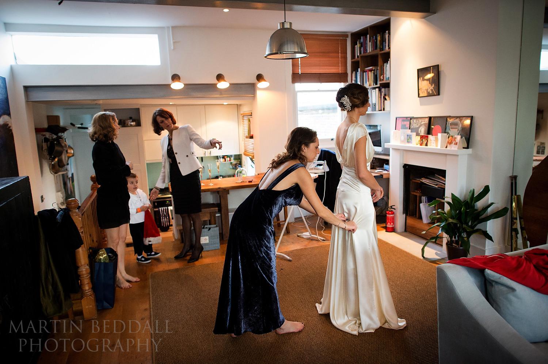Wedding dress on