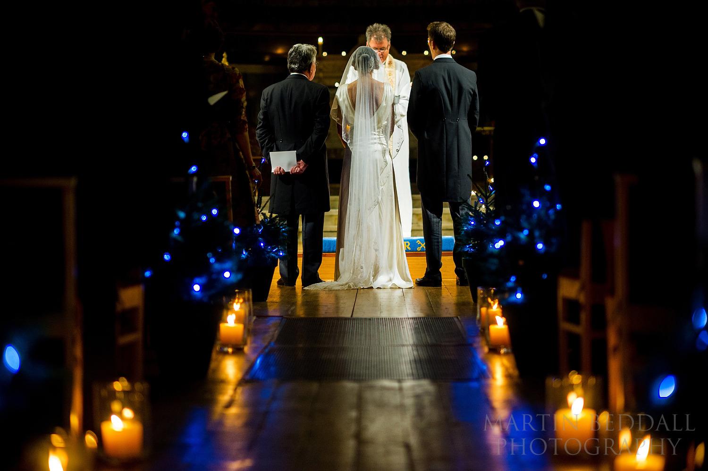 London winter wedding ceremony