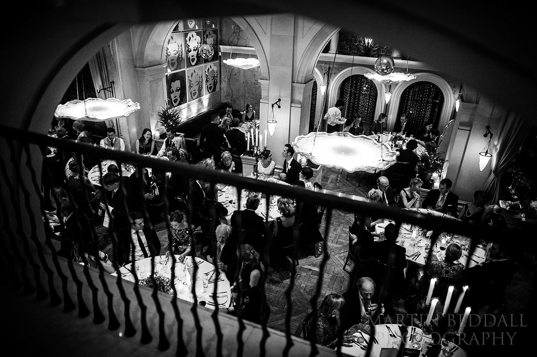 Belvedere restaurant wedding reception meal
