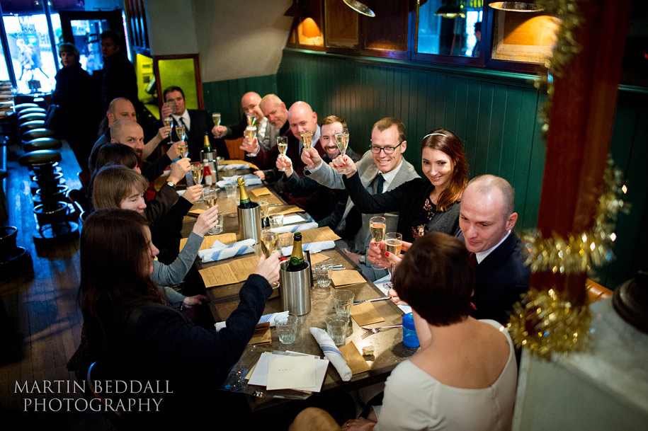 Fish & Chip Shop wedding party