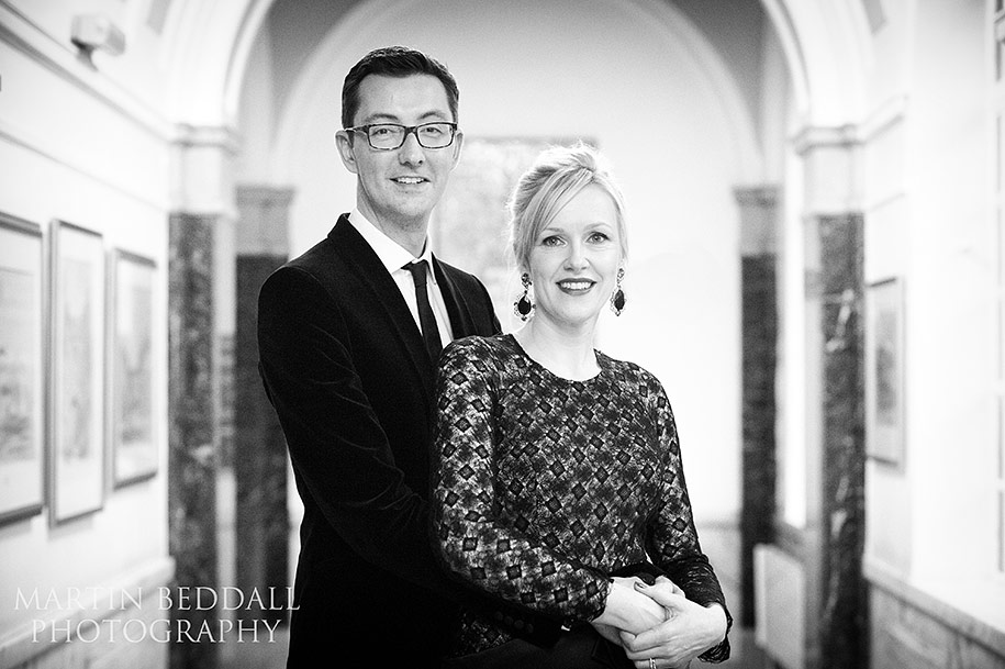 Bride and groom portrait at Islington Town Hall