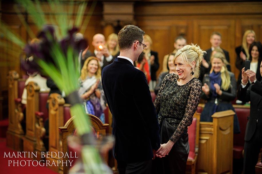 Wedding ceremony at Islington town hall