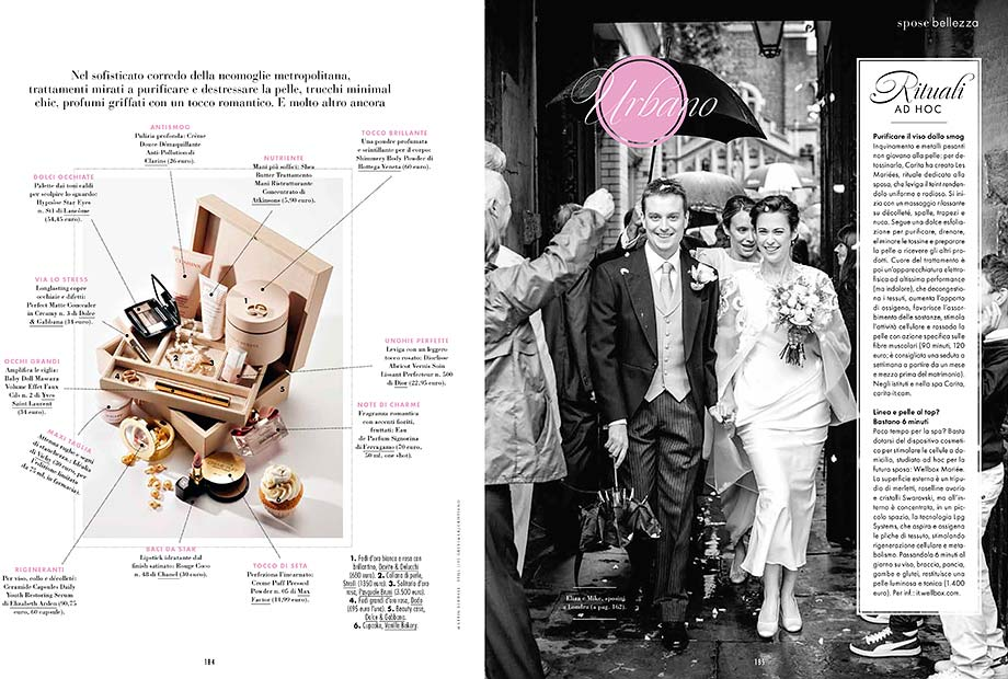 Italian bridal magzine Elle sposa features pictures by London wedding photographer Martin Beddall