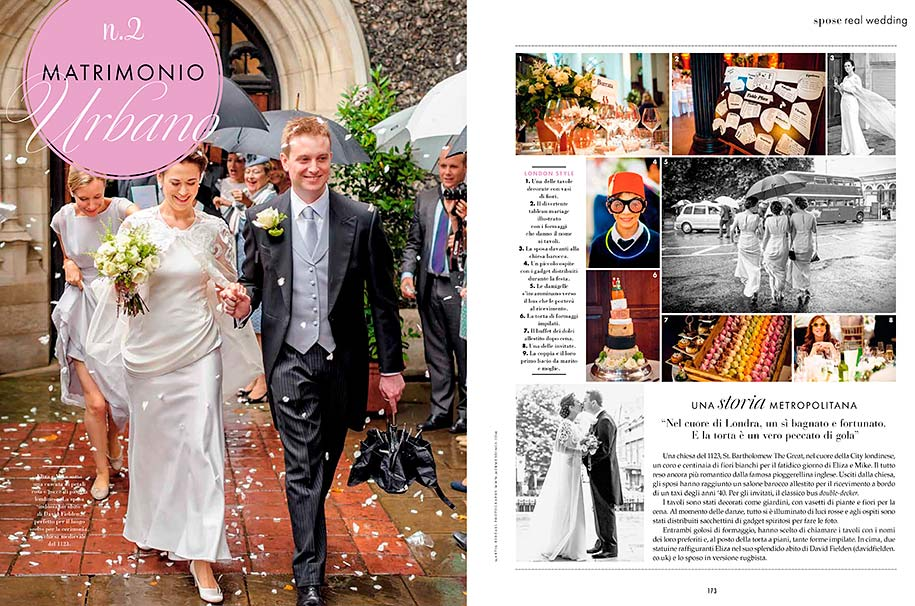 Wedding photography spread in Elle sposa magazine