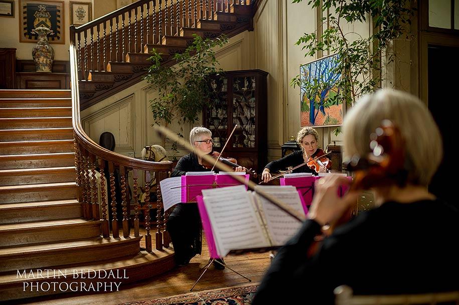 String quartet at Glemham Hall