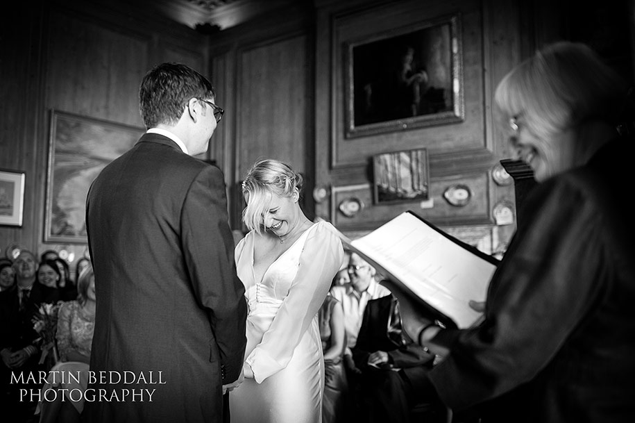 Wedding ceremony at Glemham Hall in Suffolk