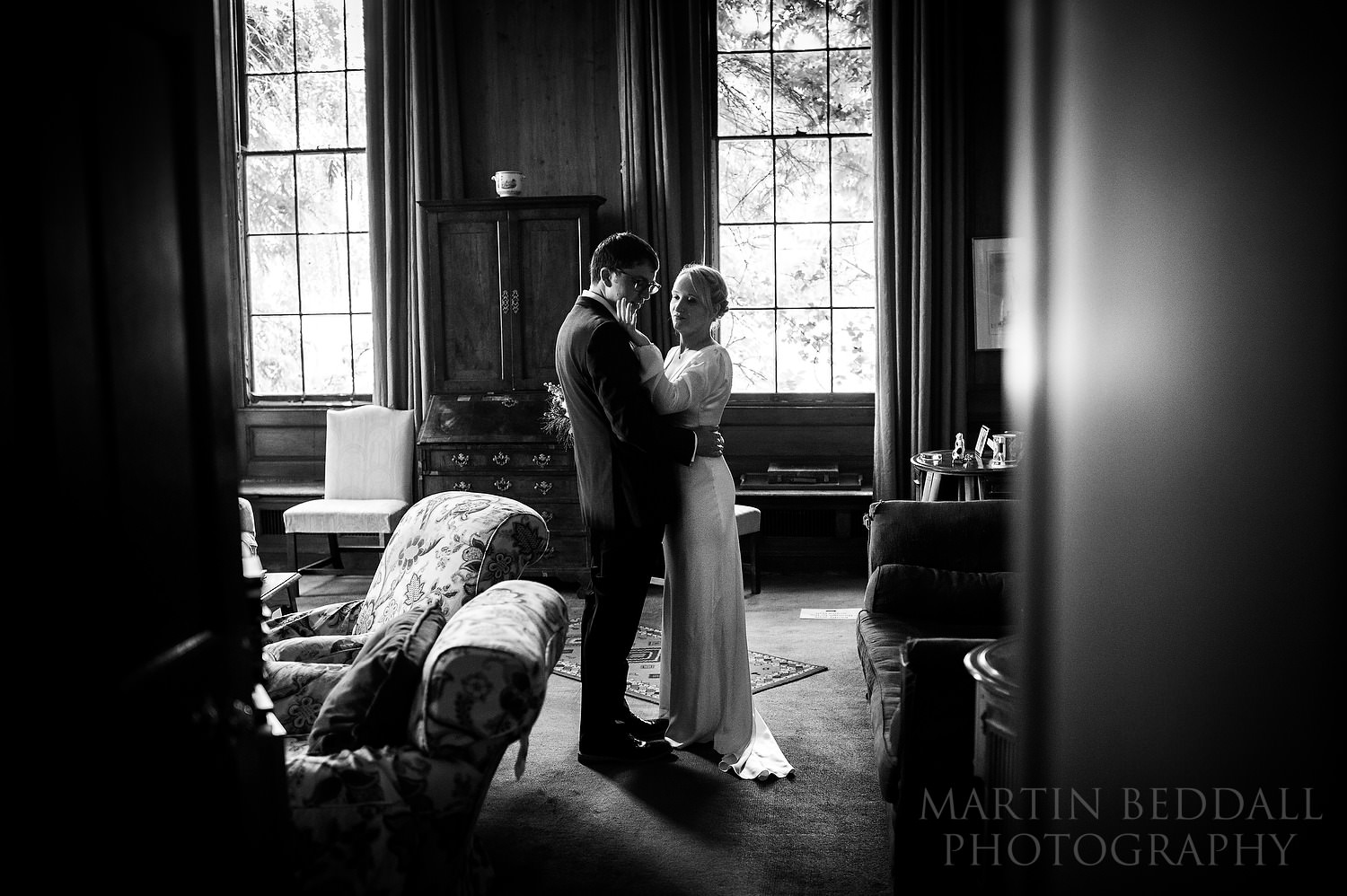 Moments after the wedding ceremony