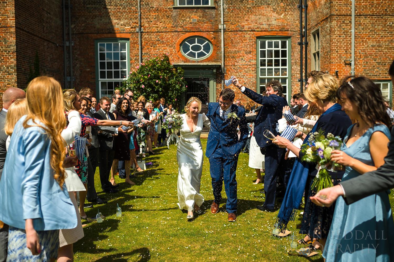 Glemham Hall wedding confetti