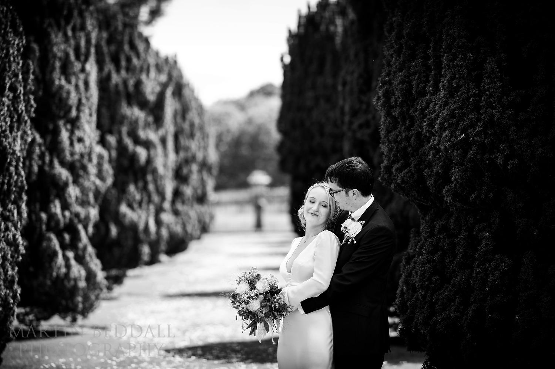 Glemham Hall wedding couple portrait