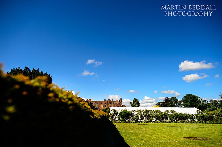 Blue skies at Glemham Hall